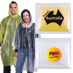 Reusable Poncho in Zipper Pouch