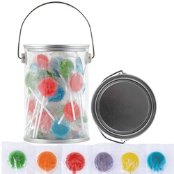 Corporate Colour Lollipops in 1 Litre Drum