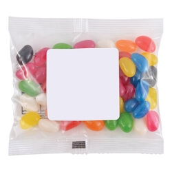Assorted Colour Mini Jelly Beans in 60 Gram Cello Bag