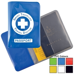 Shiny PVC Passport Wallet