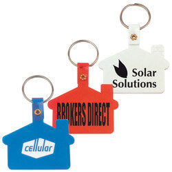 House Shape Flexible PVC Keytag
