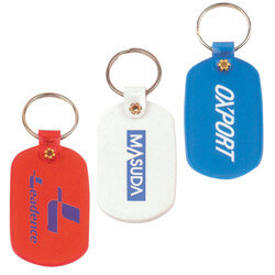 Oval Flexible PVC Keytag