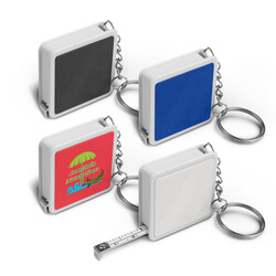 Square Tape Measure Key Ring