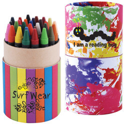 Custom Design Assorted Colour Crayons in Cardboard Tube