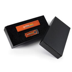 Style Gift Set - Power Bank and Swivel Flash Drive