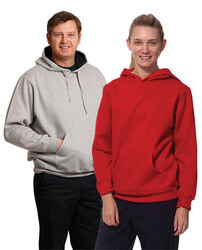 Adult's Close Front  Contrast Fleecy Hoodie