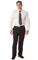 Men's Poly/Viscose Stretch Pants Flexi Waist