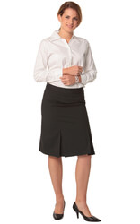 Women's Wool Blend Strecth Pleated Skirt
