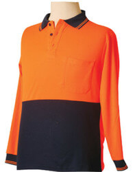 High-Vis Long Sleeve Safety Polo