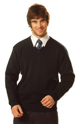 V Neck Wool/Acrylic Knit Jumper