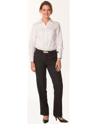 Women's Poly/Viscose Stretch Flexi Waist Pants